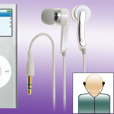 Honey White 3.5mm Stereo Necklace Earphones Headphones for 3G MP3
