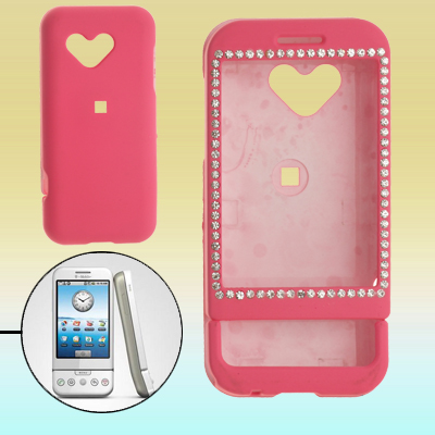 Pink Crystal Hard Plastic Case Cover for Google G1 Phone