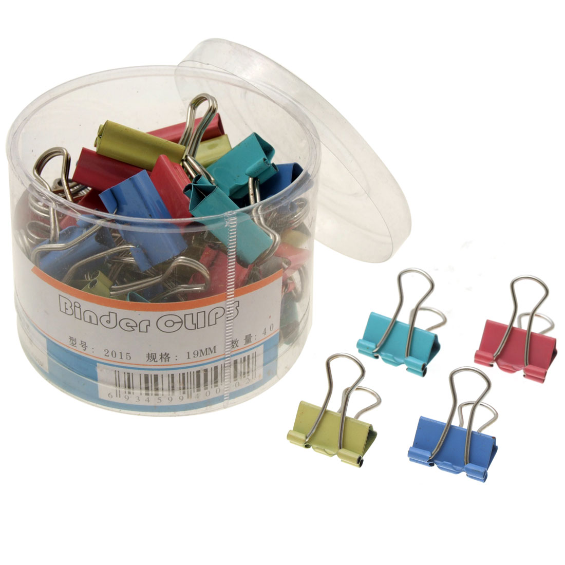 Small 40 Assorted File Organize Metal Binder Clips 19mm