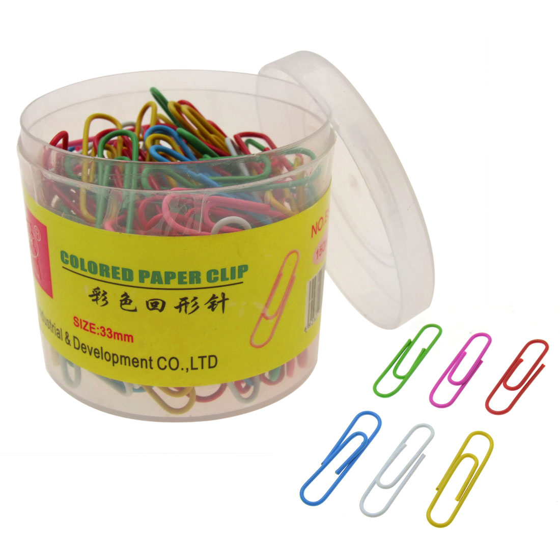150 Pieces Bucket Packing Universal Office Modern Colored Wire Paper Money Clip Set