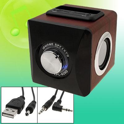 Mini Hifi Wooden FM Radio Speakers for Mp3 & Dock, Mini Hifi Speakers
