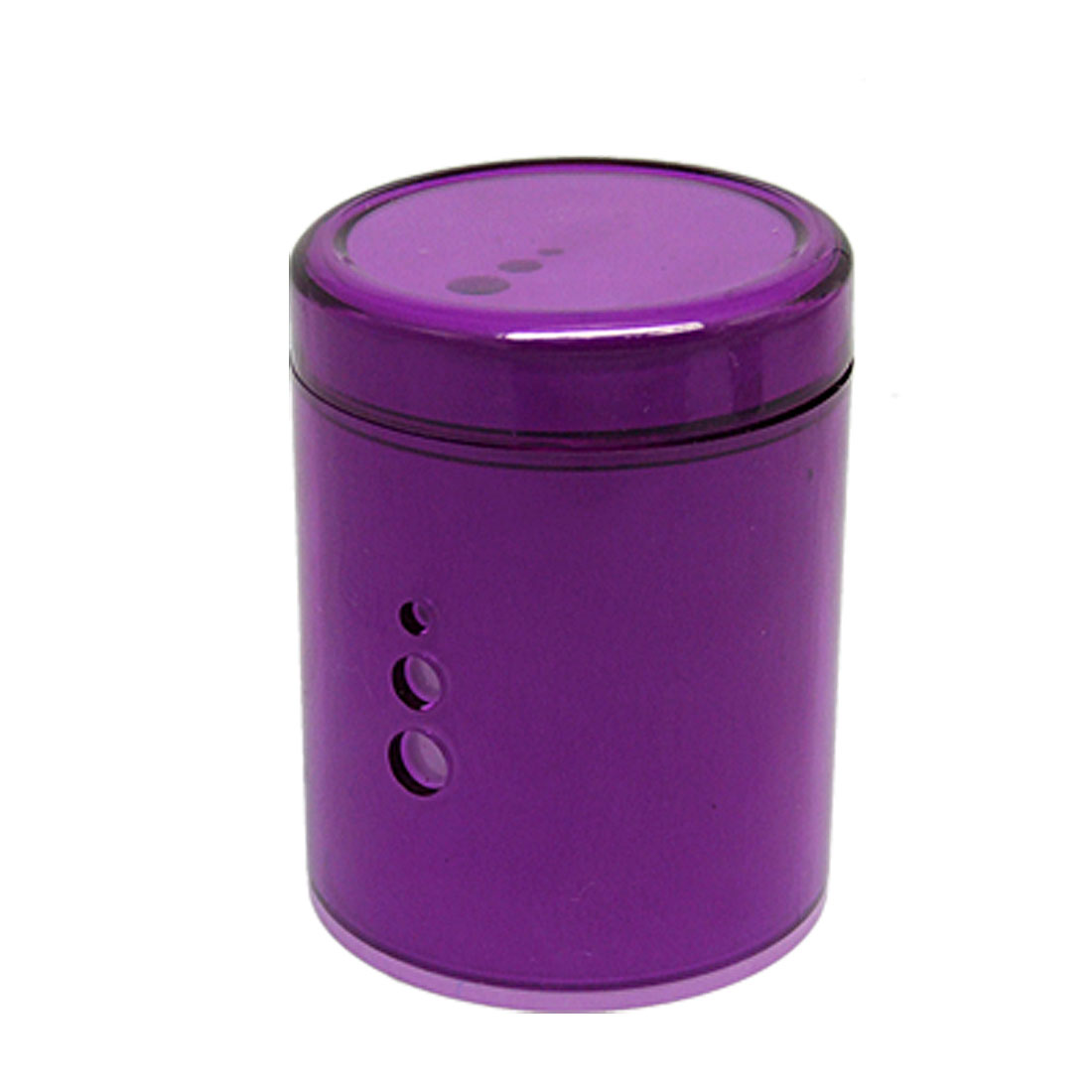 Blue LED Illuminated Plastic Cigarette Ashtray Purple
