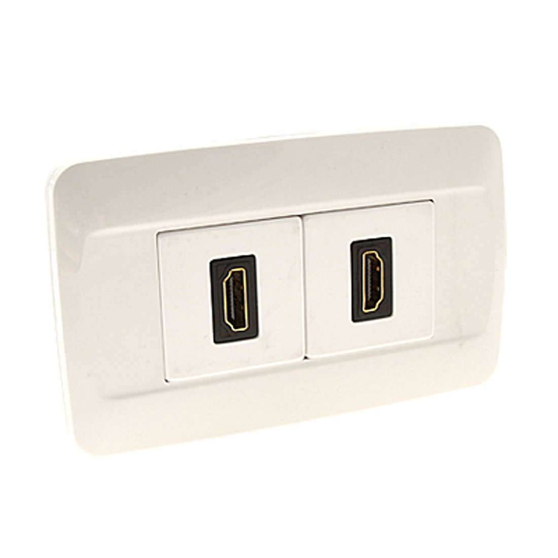 2-Gang Dual HDMI Female Jack Outlet Socket Wall Plate Panel