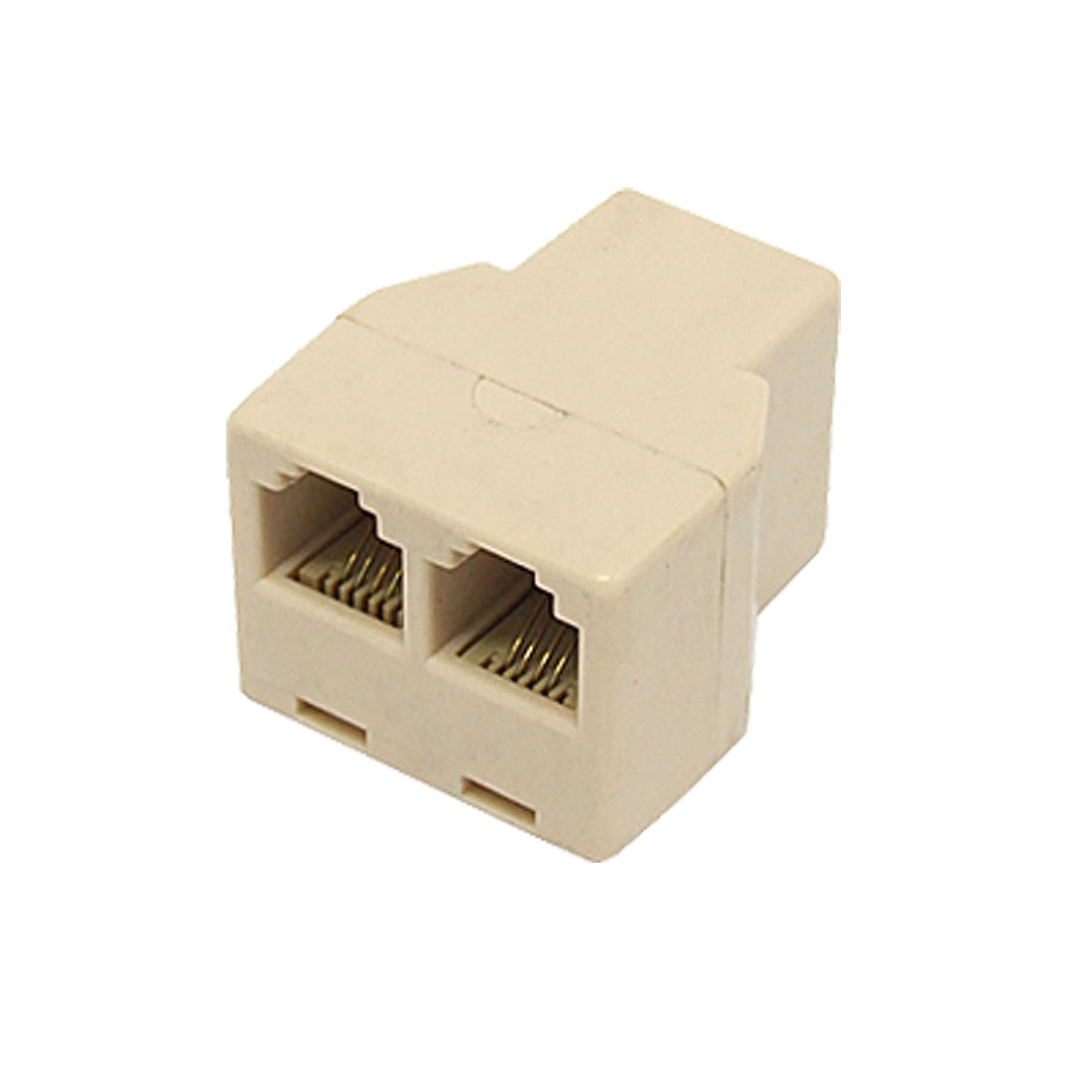 RJ-11 Female to 2 Female Phone CAT3 Connector Jack Adapter Splitter