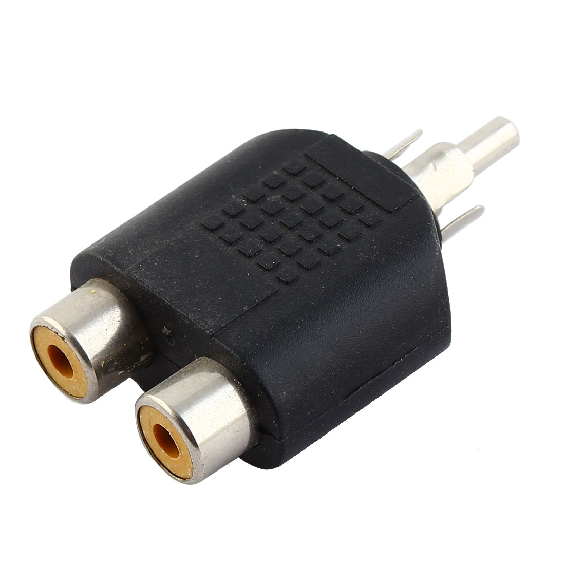 1 Male to 2 Female RCA Phono Audio Splitter Connector Adapter