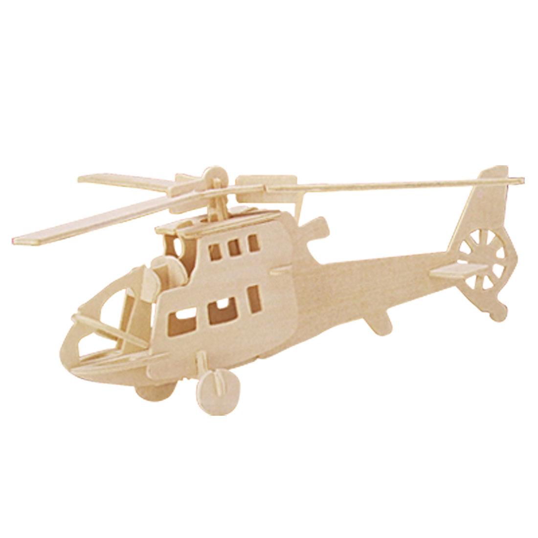 DIY Wooden Fighter Plane Battleplane Model Puzzle Toy