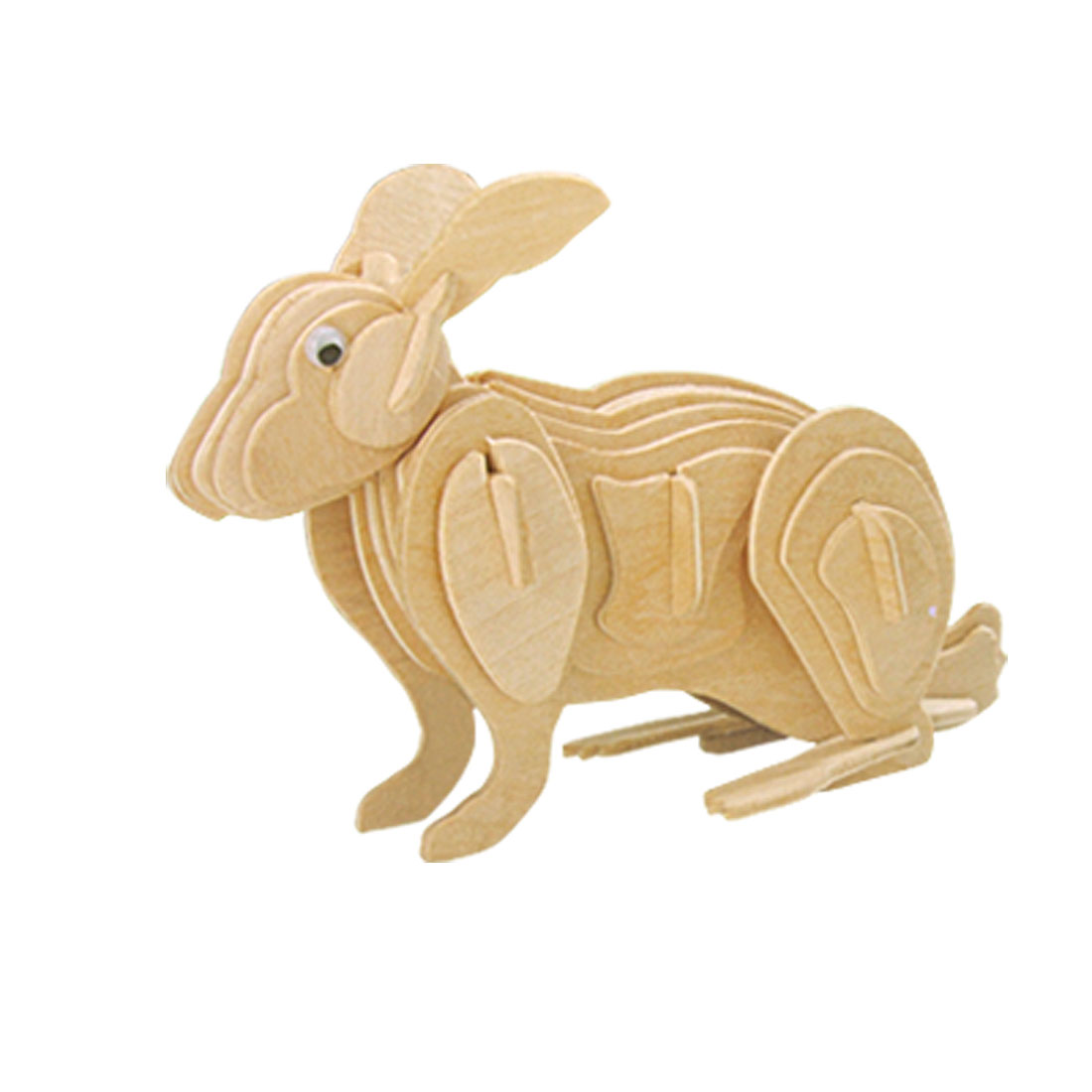 Woodcraft Construction Tender Rabbit Model DIY Puzzle Toy Kit