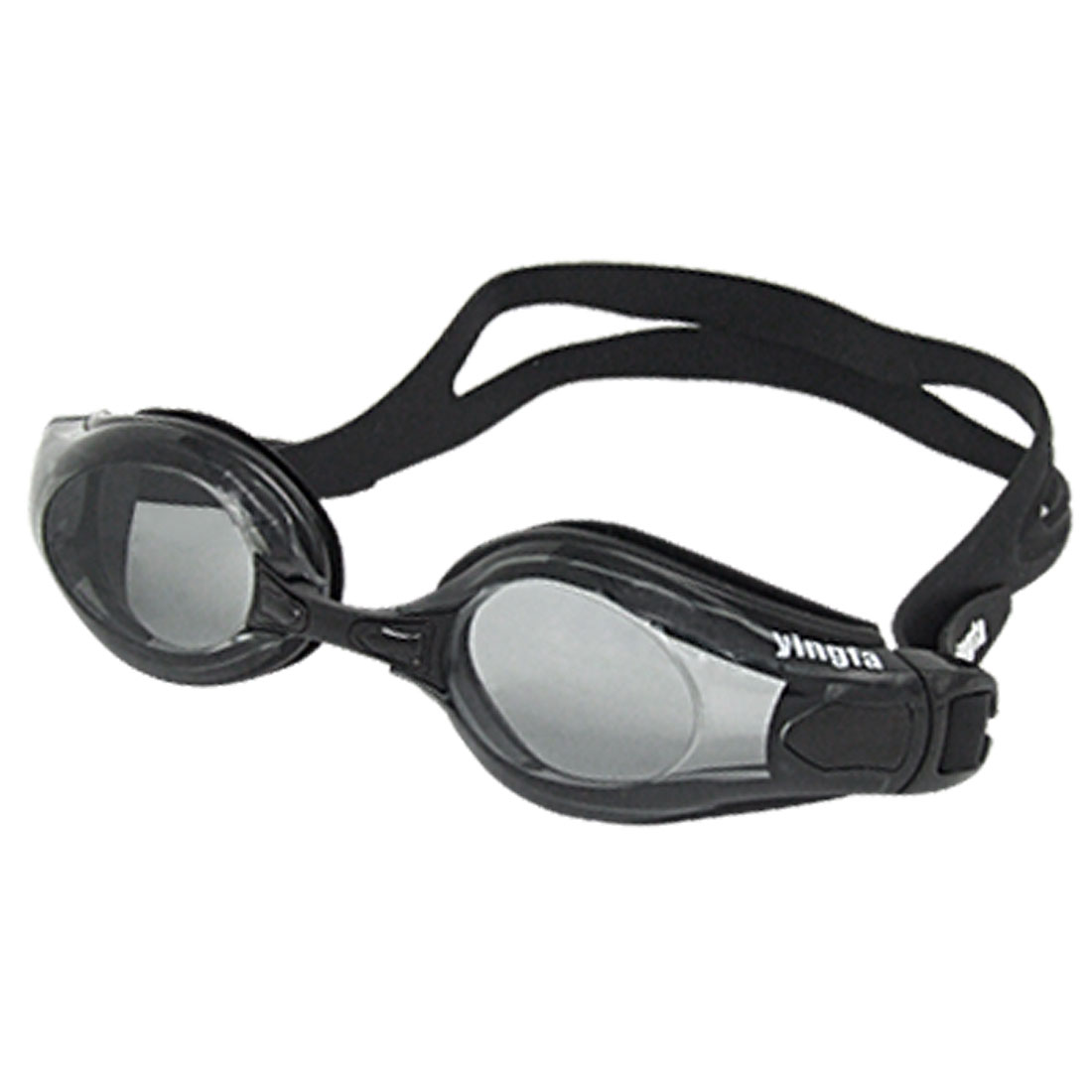 Black Silicone Pool Swimming Swim Goggles for Adult
