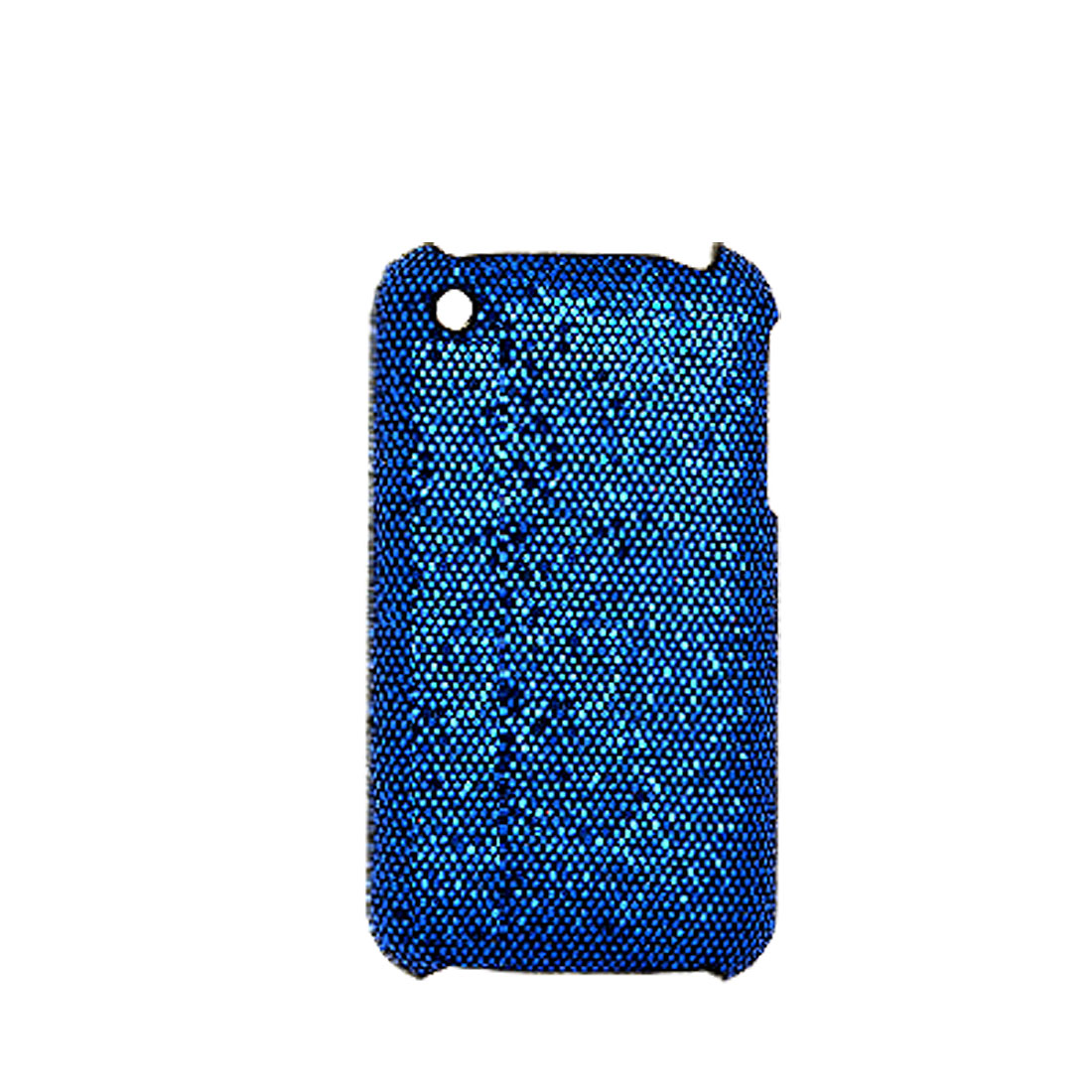 Glittery Blue Plastic Case Back Protector Cover for iPhone 3G / 3GS