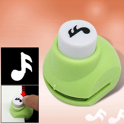 Music Note Paper Craft Shaper Scrapbooking Punch Green