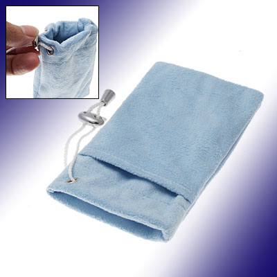 Blue Flannelette Mobile Phone Pouch for iPhone 3G / 3GS i Touch