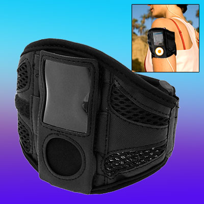 Black Netty Sports Armband Cover for iPod Nano 4th Gen