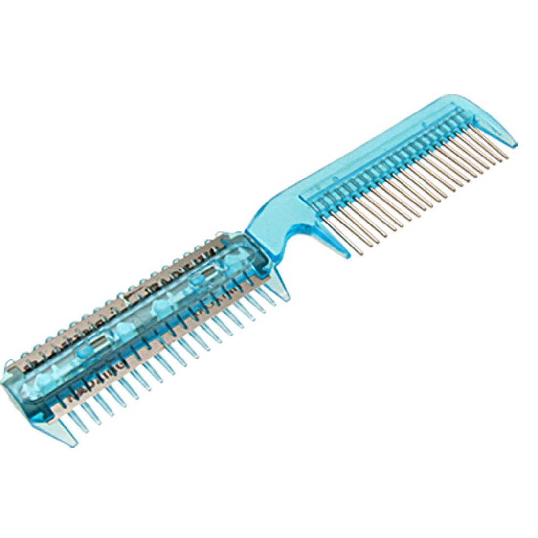 Light Blue Plastic Home Hair Cutting Trimmer Razor Comb