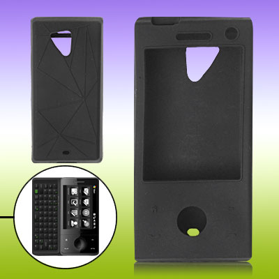 Anti-slip Silicone Cover For HTC Touch Diamond PRO - Black
