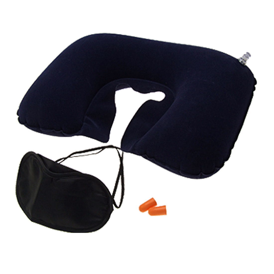 Inflatable U Shape Pillow Rest Support Blinder Earplug for Travel Camping