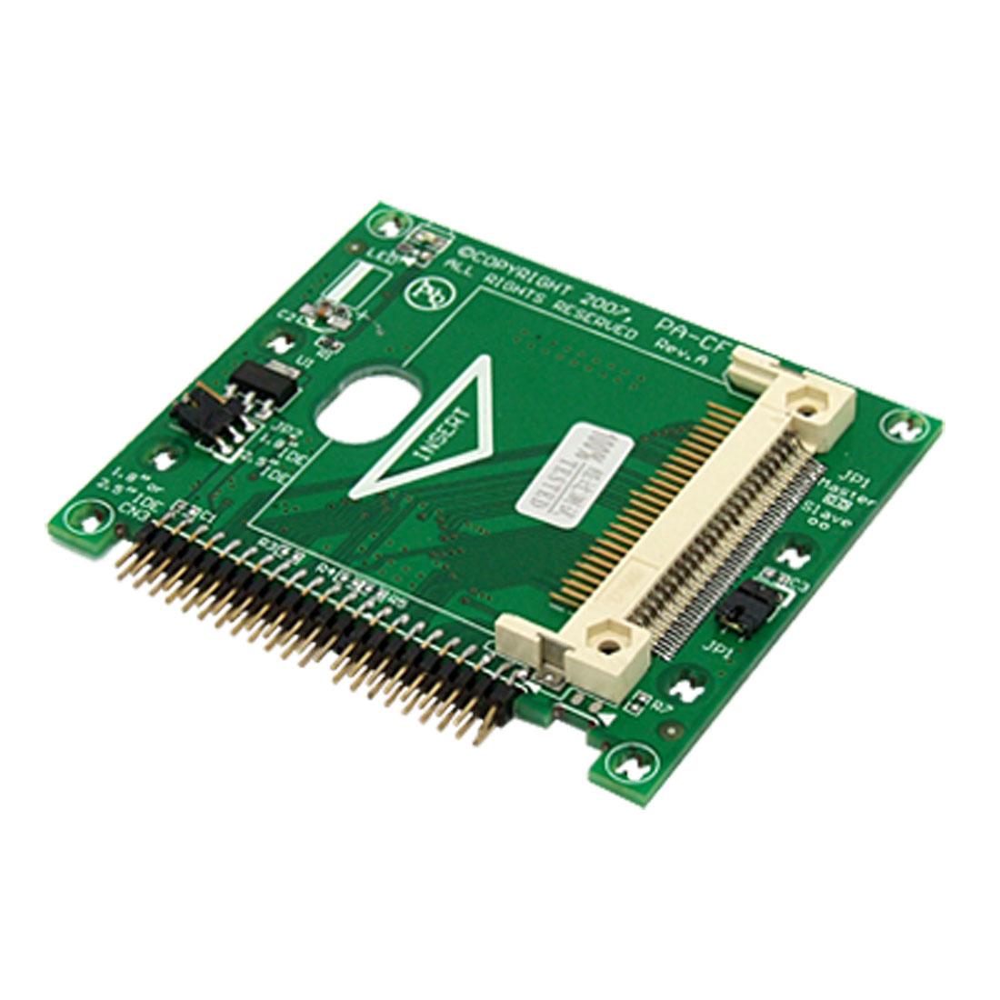 "CF Card to 44 Pin 1.8"" Hitachi IDE Hard Drive HDD Adapter"