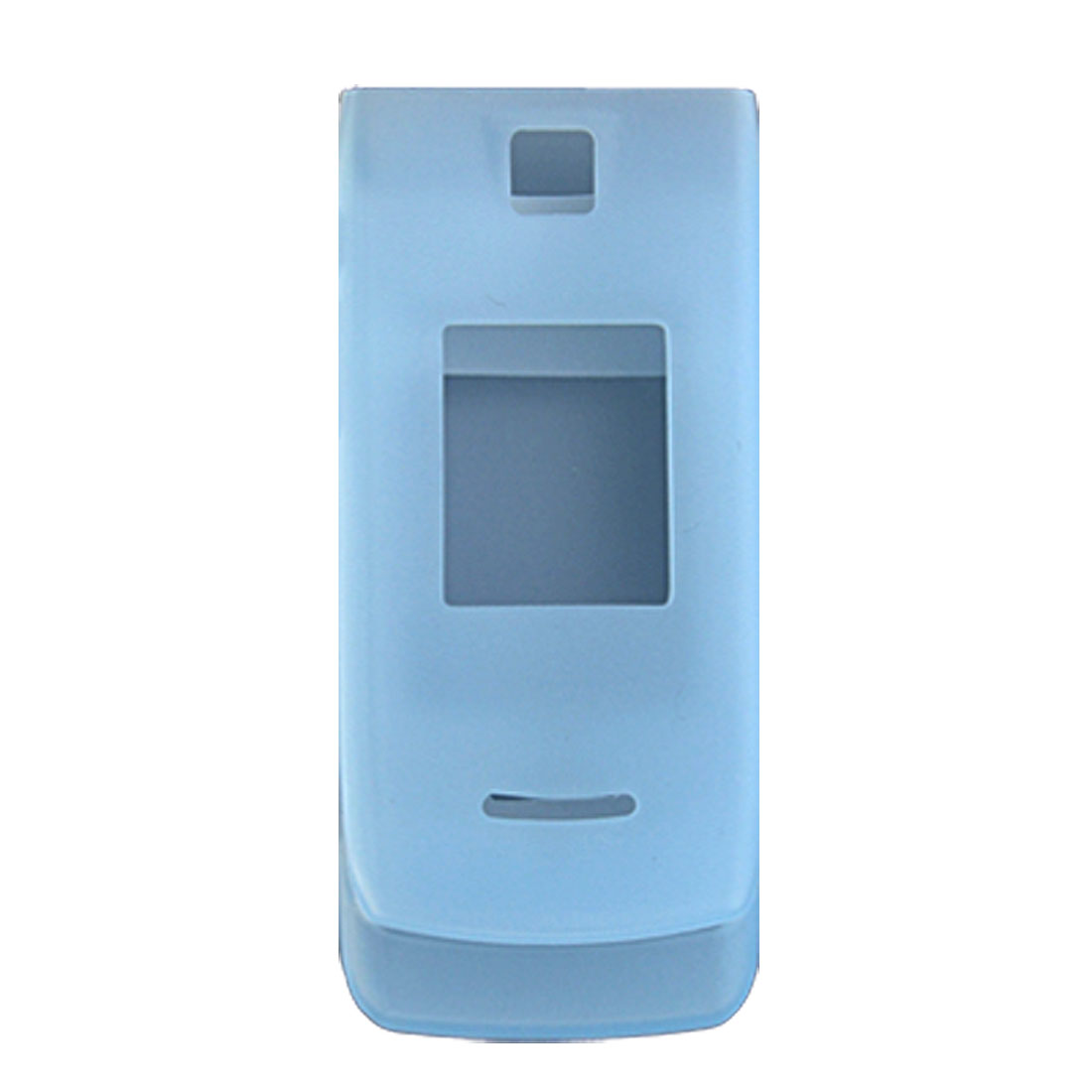 Light Blue Silicone Skin Case Cover for Nokia 3610 Fold