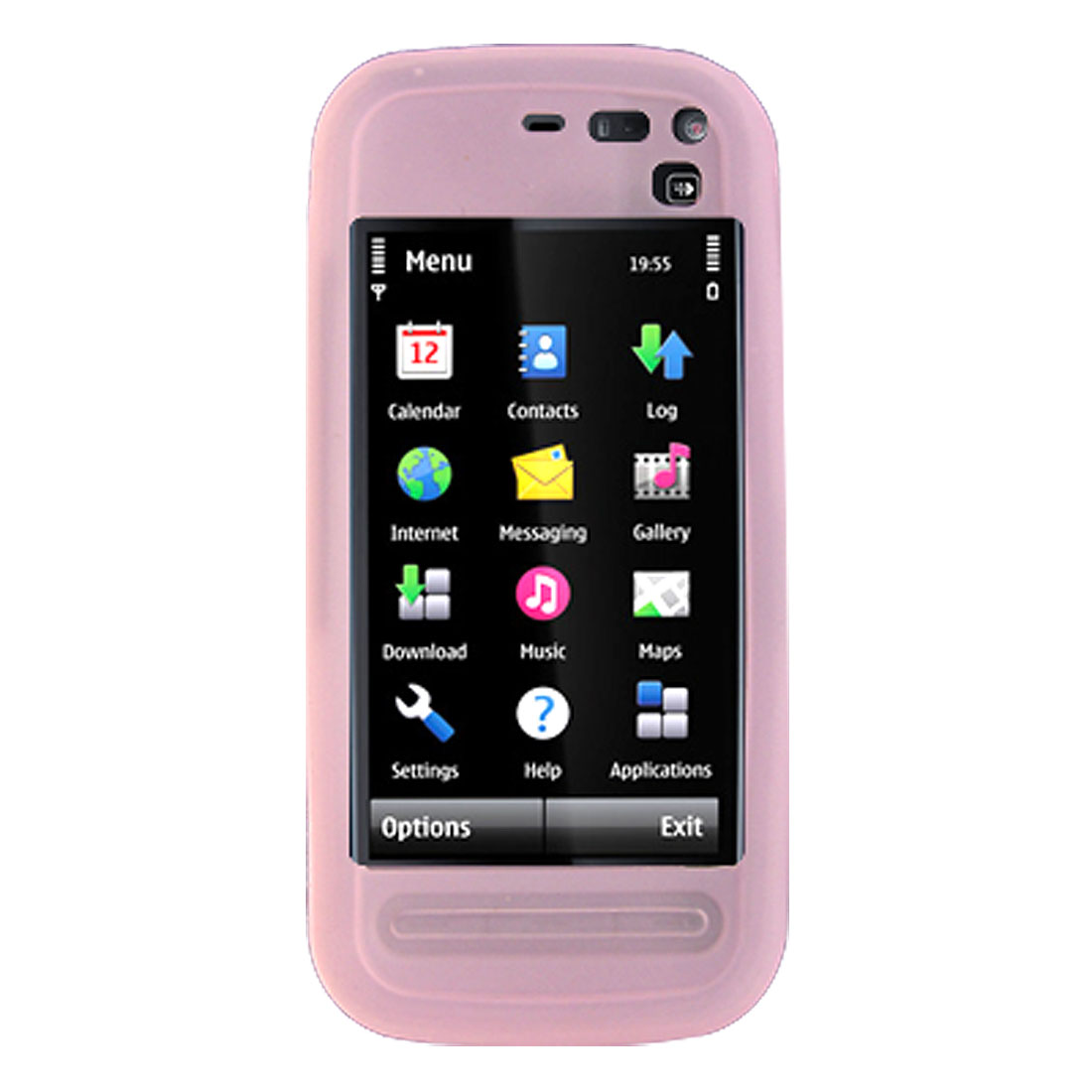 Pink Silicone Skin Mobile Case Protector for Nokia 5800