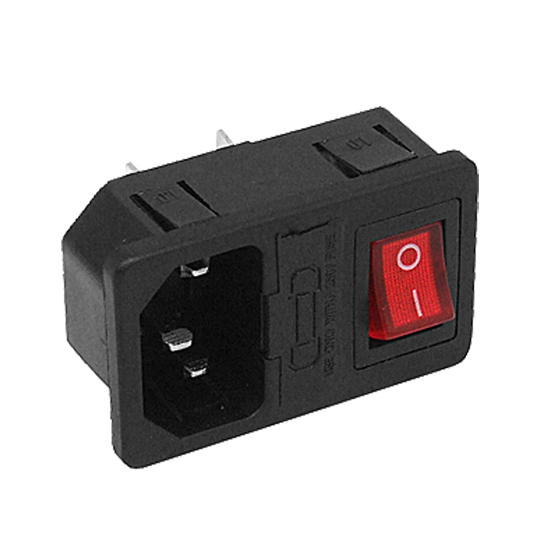 250V 10A AC Inlet 3P Power Socket w Fuse Holder Rocker Switch