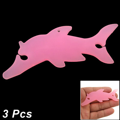 Dolphin Shaped Smart Wrap for MP3 Earphone Pink 3 Pcs