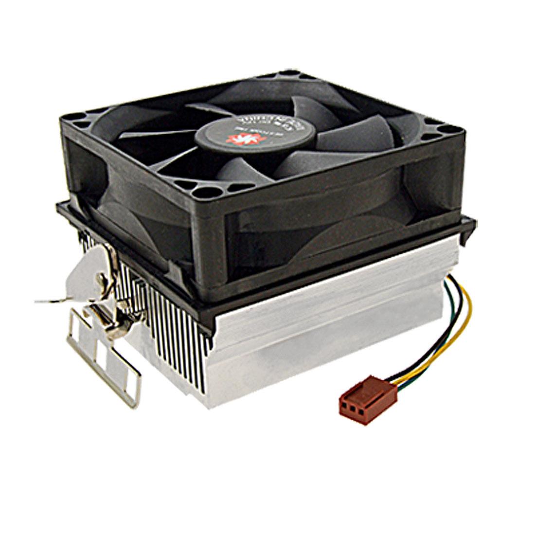 Computer Desktop 3 Terminal CPU Cooler Heatsink Cooling Fan DC 12V
