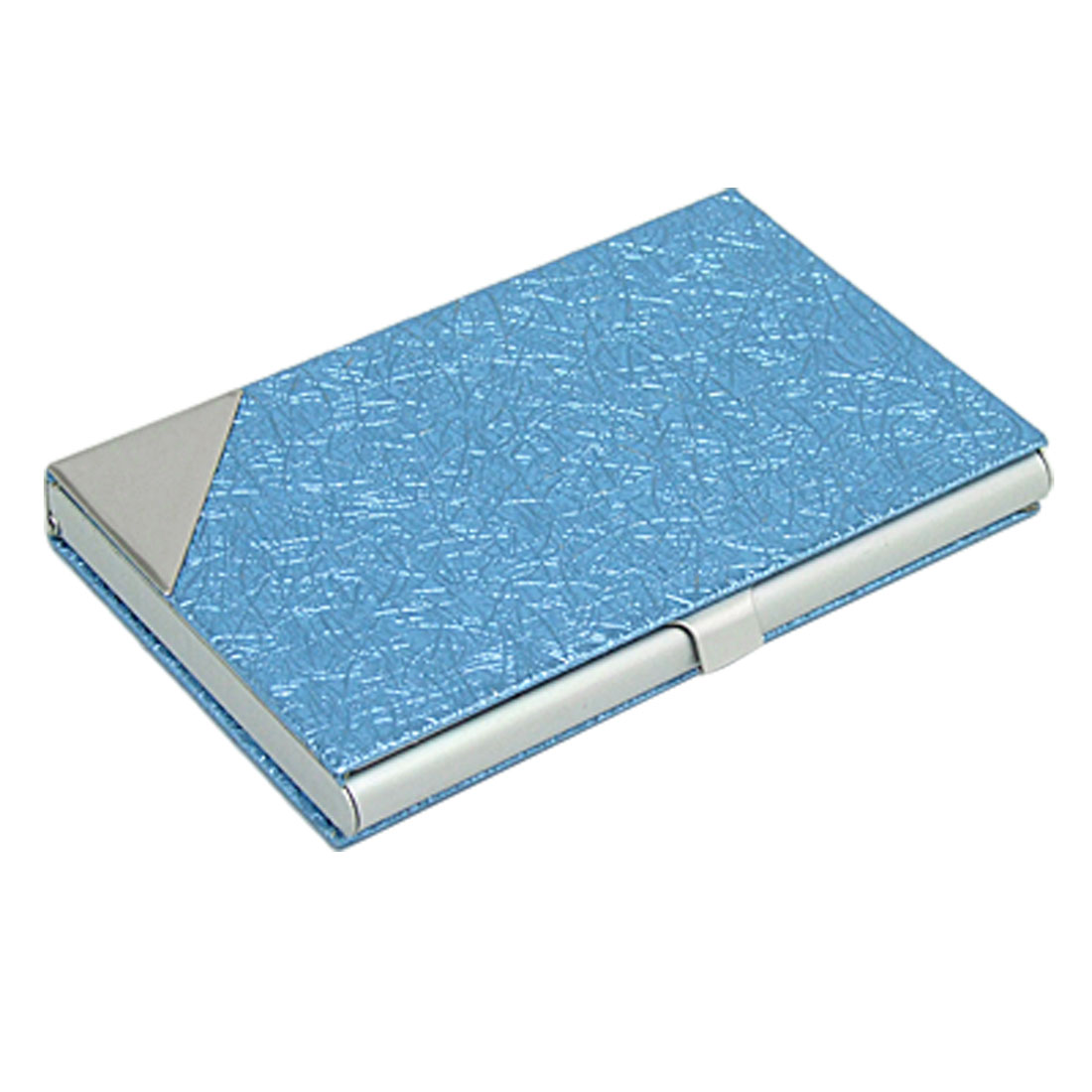 Dazzling Blue Paster Surface Aluminum Business Card Case