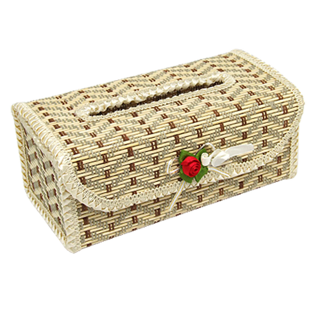 Embroidery Bamboo Decoration Tissue Paper Box Cover Holder