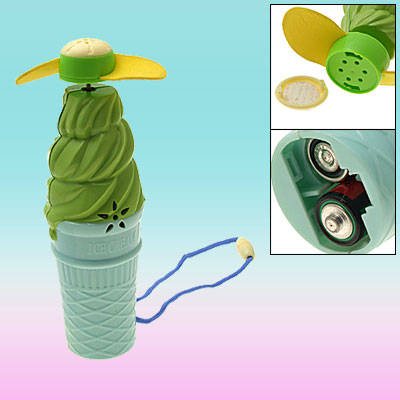 Ice Cream Shaped Mini Elecrtrical Fan and Children Musical Toy