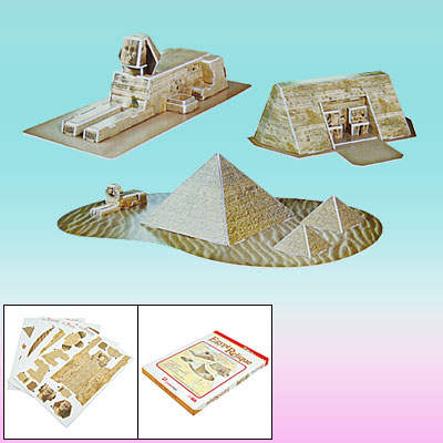 Assembly Sphinx & Abu Simbel & Egyptian Pyramids DIY 3D Puzzle Toy