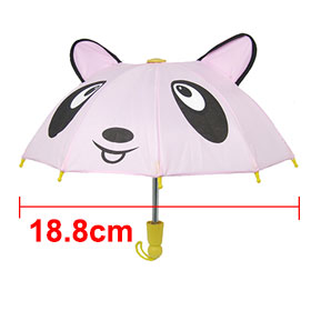Unique Metal Frame Cartoon Umbrella Kids' Toy with Bear Animal Pattern