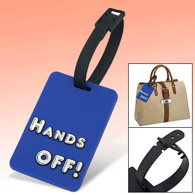 Outdoor Travel Personalized Hands Off Bag Luggage Suitcase ID Tag Blue