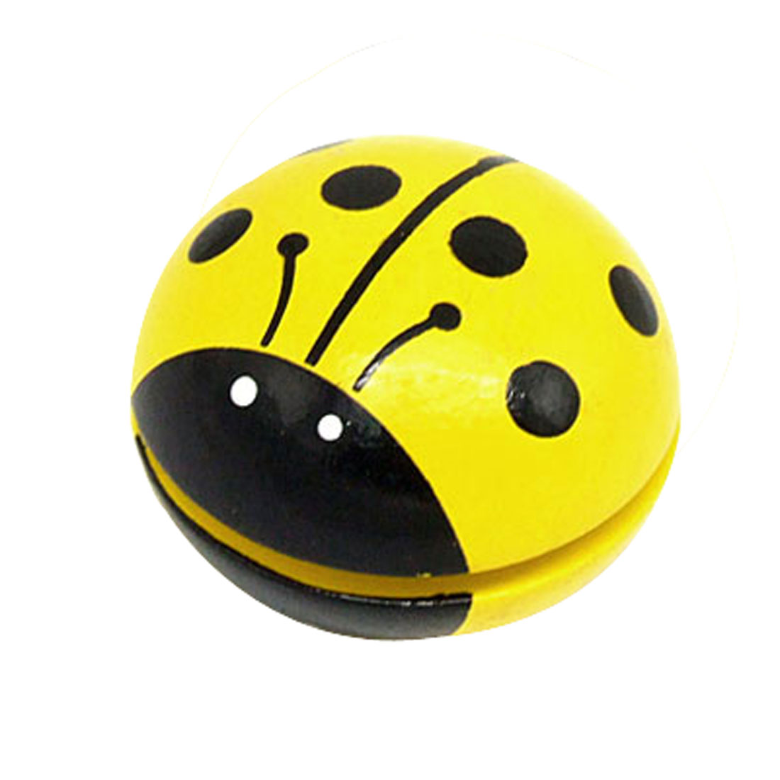 Yellow Ladybird Shaped Wooden Yo-Yo Toy for Children