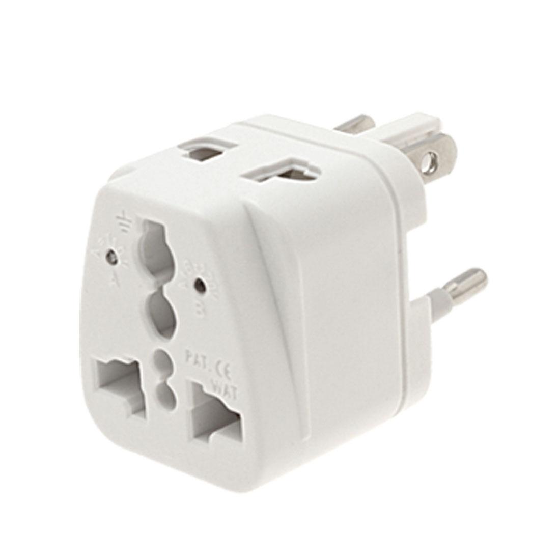 10A 250V US EU Plug Mini Global Travel Adapter Charger