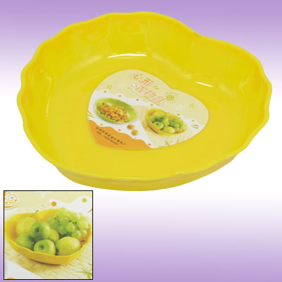 Elegant Heart Shaped Plastic Plate Tray Dinnerware Set
