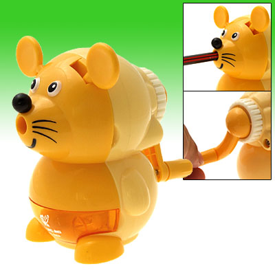 Lovely Cartoon Mouse L Shape Desk Top Manual Pencil Sharpener