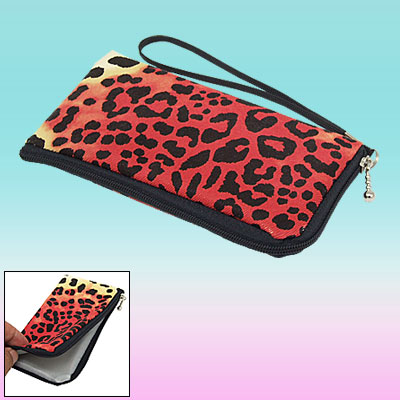 Hand Strap Leopard Print Purse Bag Pouch for ix