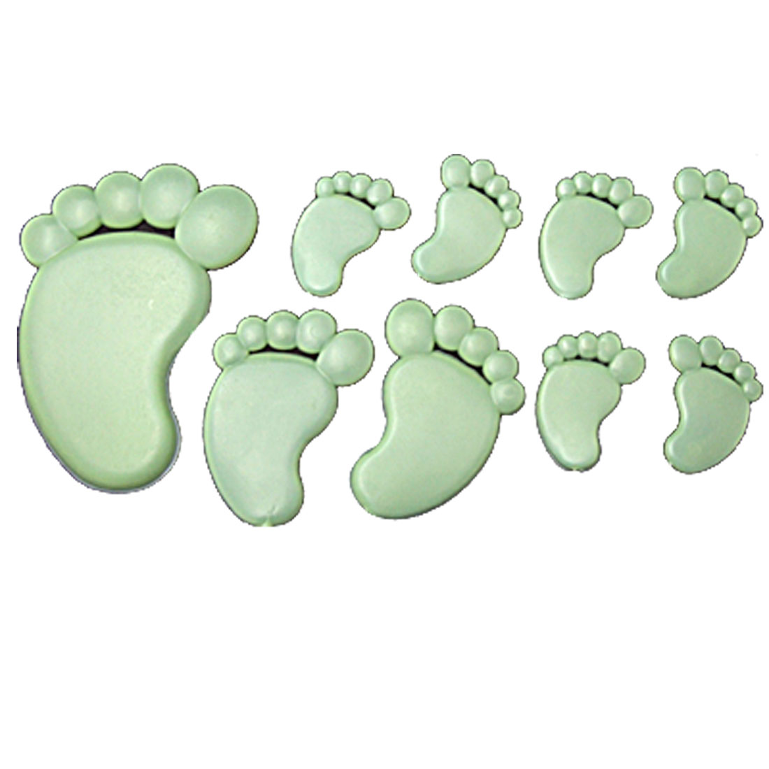 Footprint Shape Glow In The Dark Wall Stickers Baby Room Kids Nursery 9 Pcs