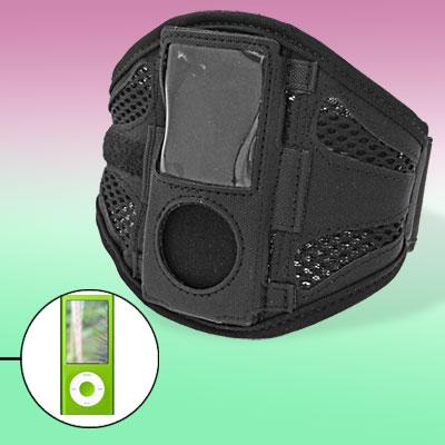 Black Sports Running Armband w/Screen Visor for iPod Nano Chromatic 4th Gen