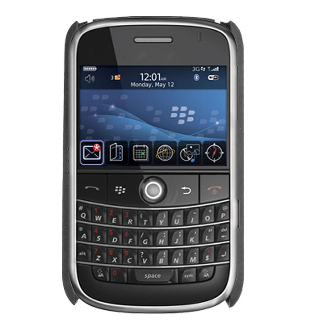 Black Hard Plastic Case Cover for Blackberry 9000