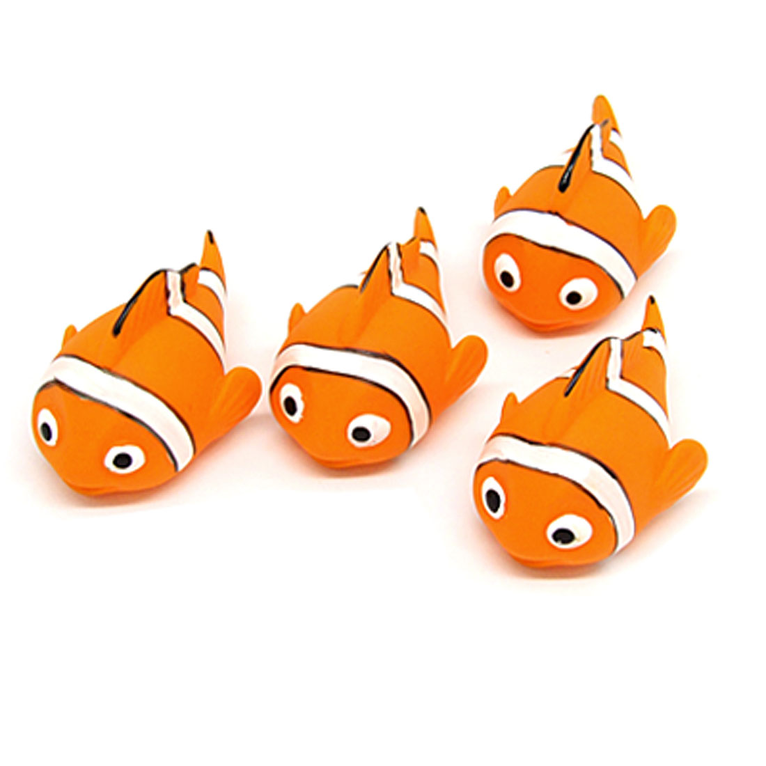 Vinyl Fish Doll Squeeze Squeak Children Toy Orange White