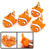 Vinyl Fish Doll Squeeze Squeak Toy Orange White