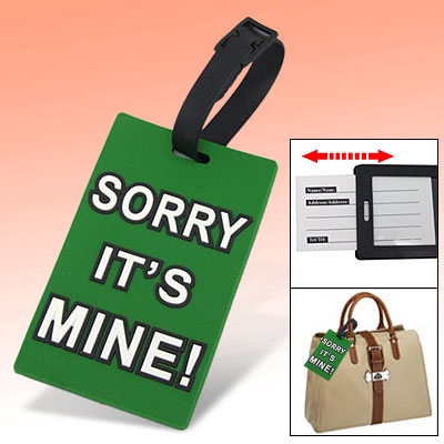 Outdoor Rubber Letter Print Luggage Bag Suitcase Tag Sign Green