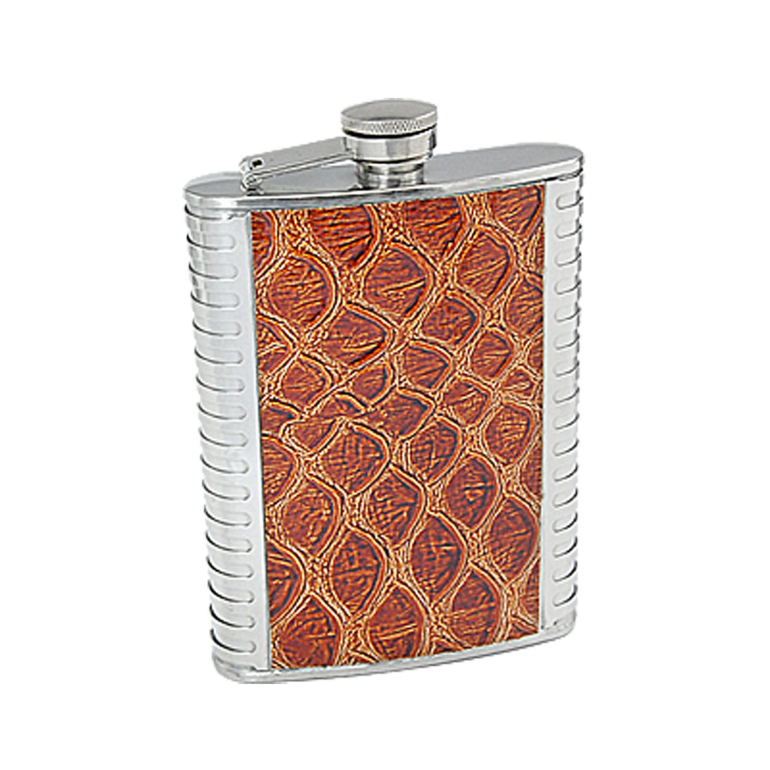 80Z Traveling Stainless Steel Wine Liquor Water Flask Brown