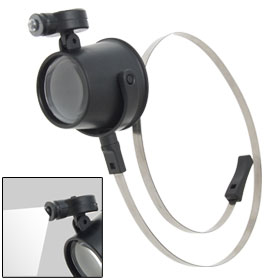 Illuminated 15X Magnifier LED Eye Loupe w/ Head Strap Watchmarker Repair Watches
