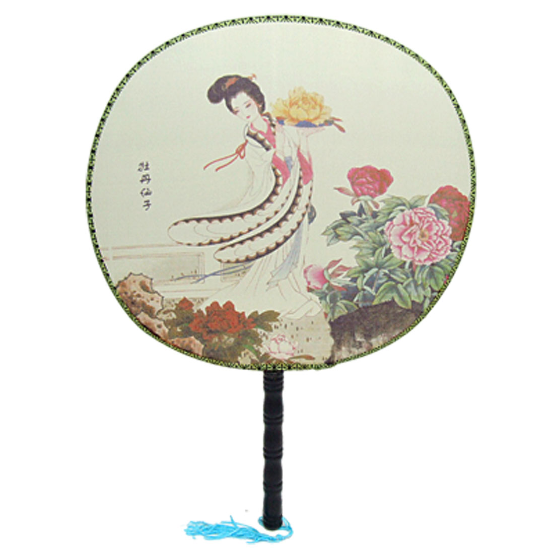 Peony Faery Picture Traditional Fabric Fan for Lady