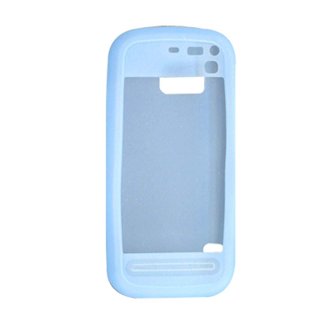 Silicone Skin Mobile Phone Case Protector for Nokia 5800 Skyblue