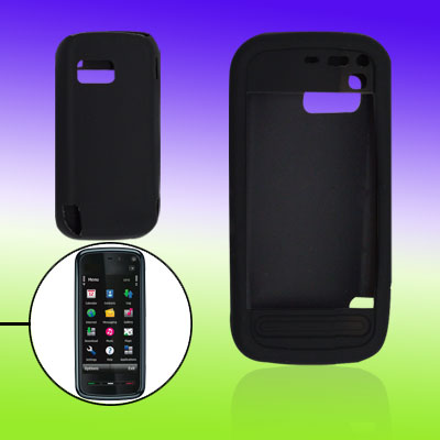 Black Silicone Skin Protector for Nokia 5800