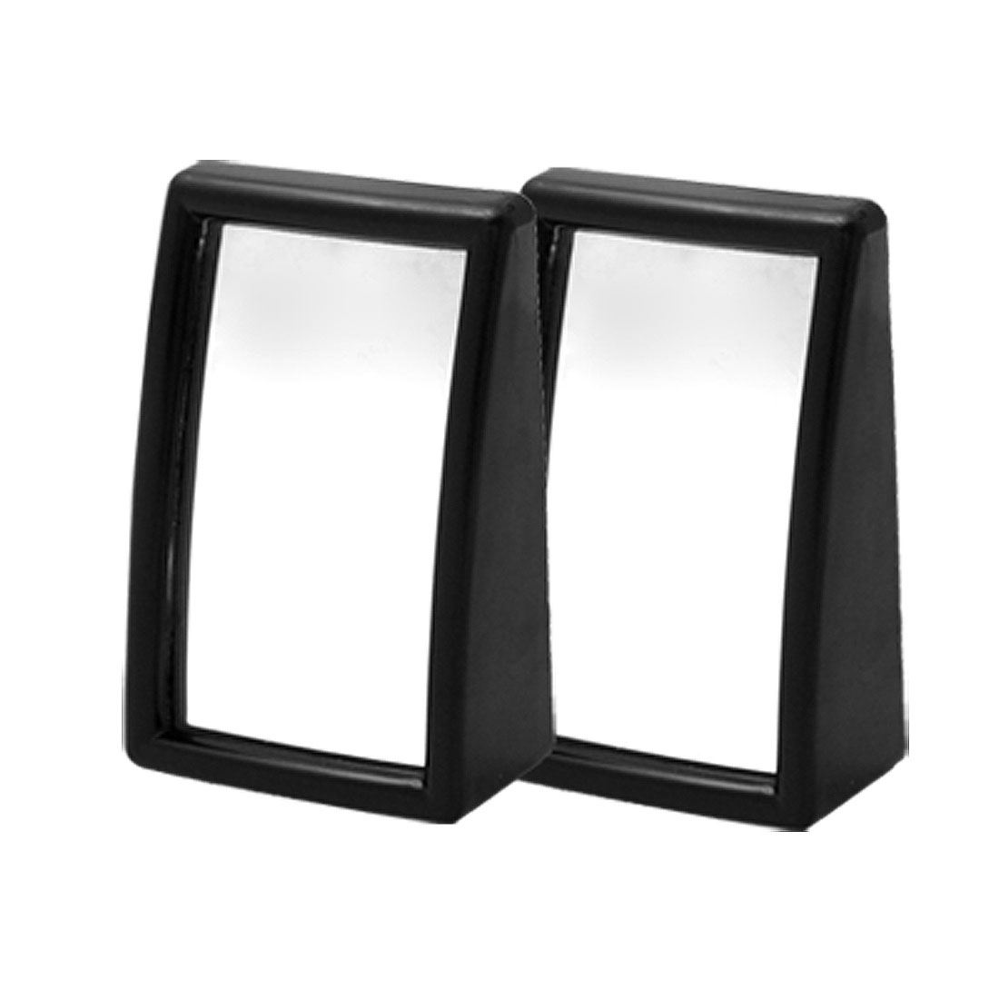 Black Two Wide Angle Convex Blind Spot Mirrors 2 Pcs
