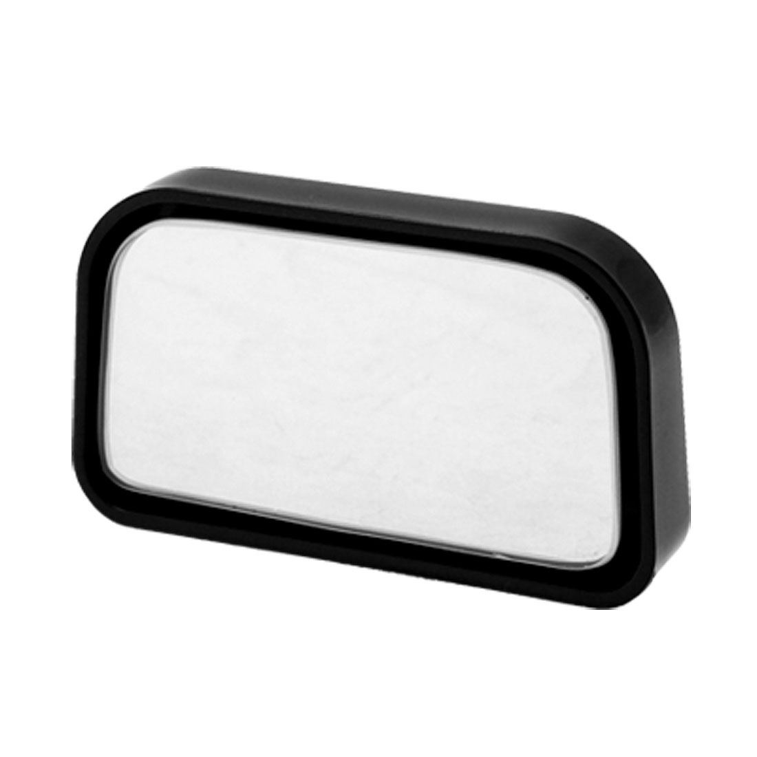 "Rectangle Black Car Wide Angle Convex Blind Spot Rearview Mirror 3"" x 1.8"""