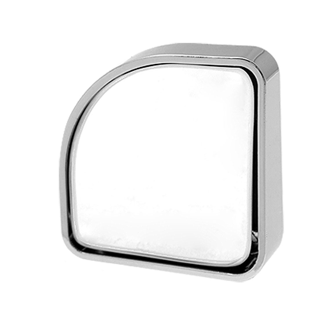 "2 Pcs Silver Tone Auxiliary Stick-on Blind Spot Mirrors 2"" x 2"""